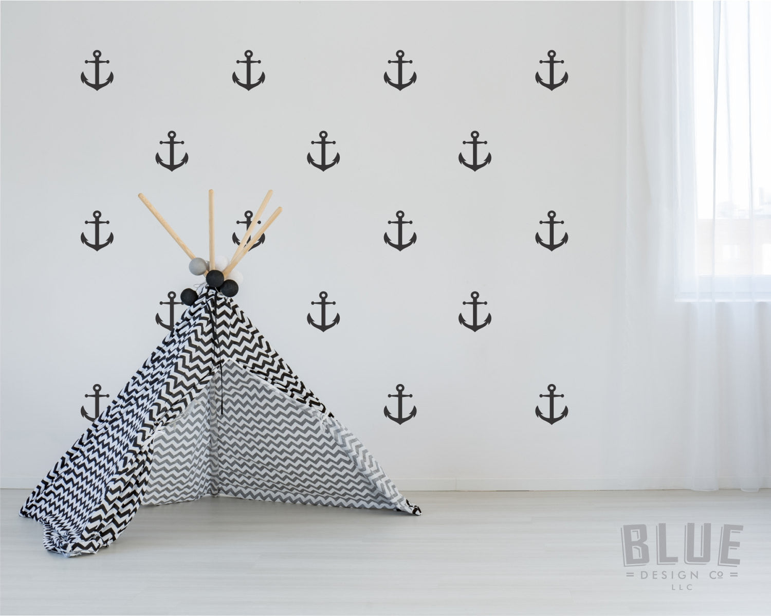 Anchor wall decals set of anchor wallpaper style wall decals anchor wall decals anchor decals amipublicfo Image collections