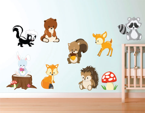 Woodland Animal Decals