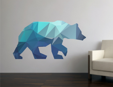 Reusable Fabric Bear Geometric Decal