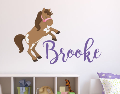 Horse and Name Decal