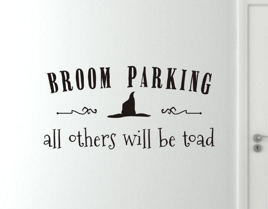Broom Parking Halloween Wall Decal