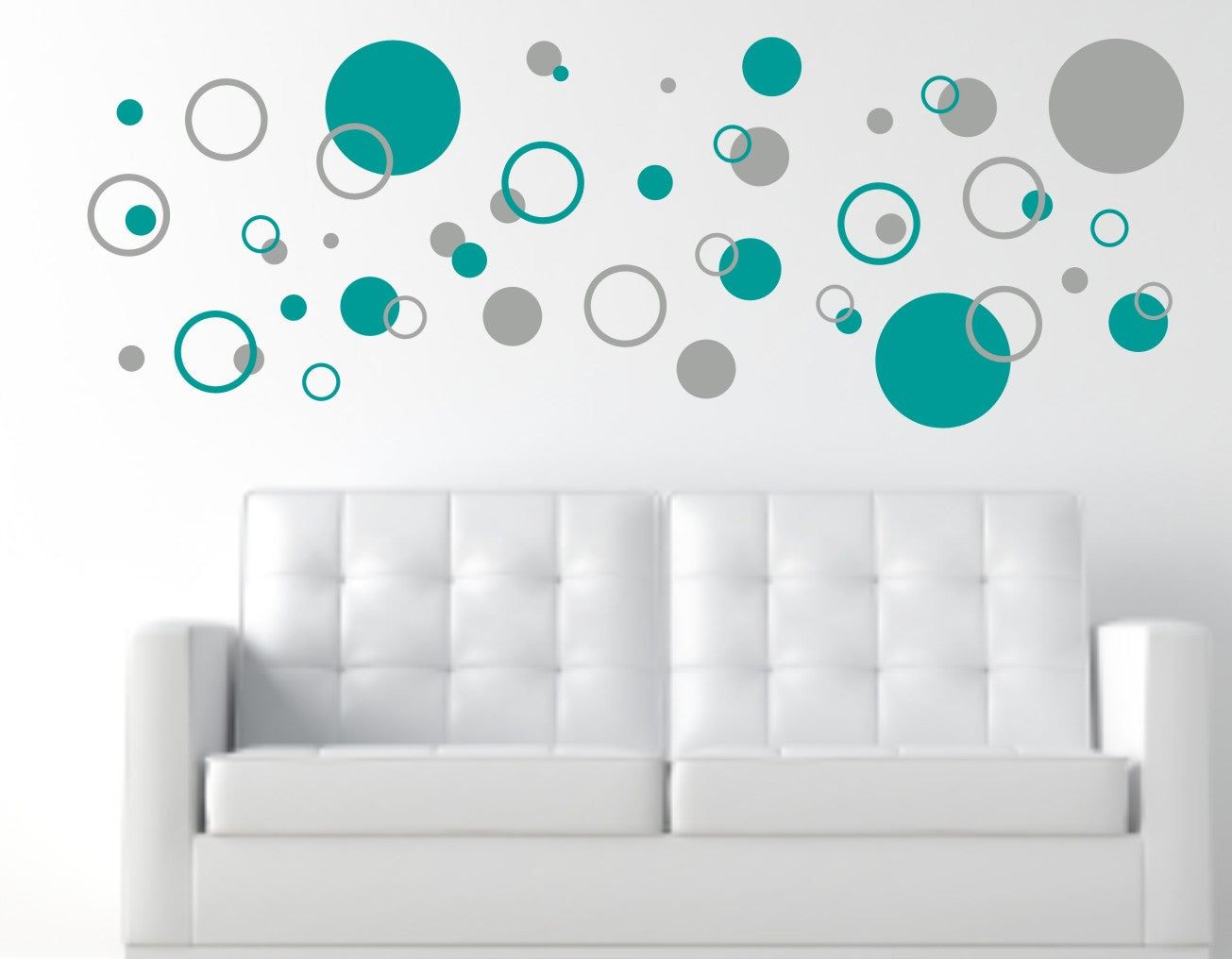Circle Pattern Wall Decals ...