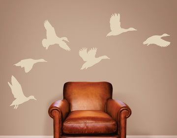 Flying Ducks - Animal Wall Decor - Wall Decals