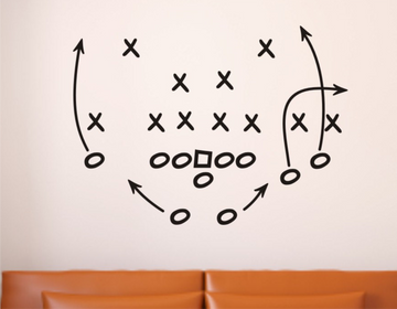 Football Play Wall Decal - Football Wall Decals