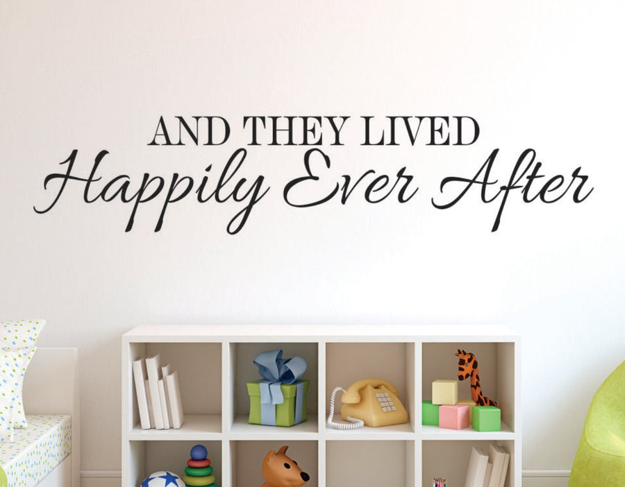 Happily Ever After Wall Decal - Wall Quotes Decals