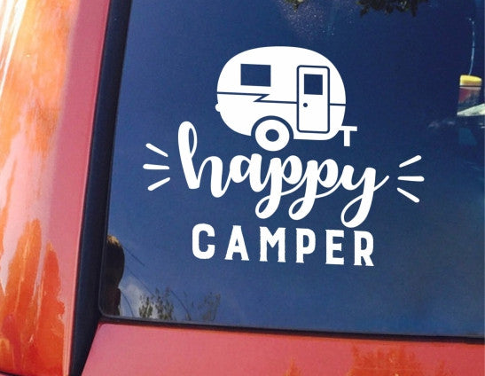 Happy Camper Decal Blue Design Co LLC