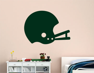 Retro Football Helmet Wall Decal - Football Wall Decals