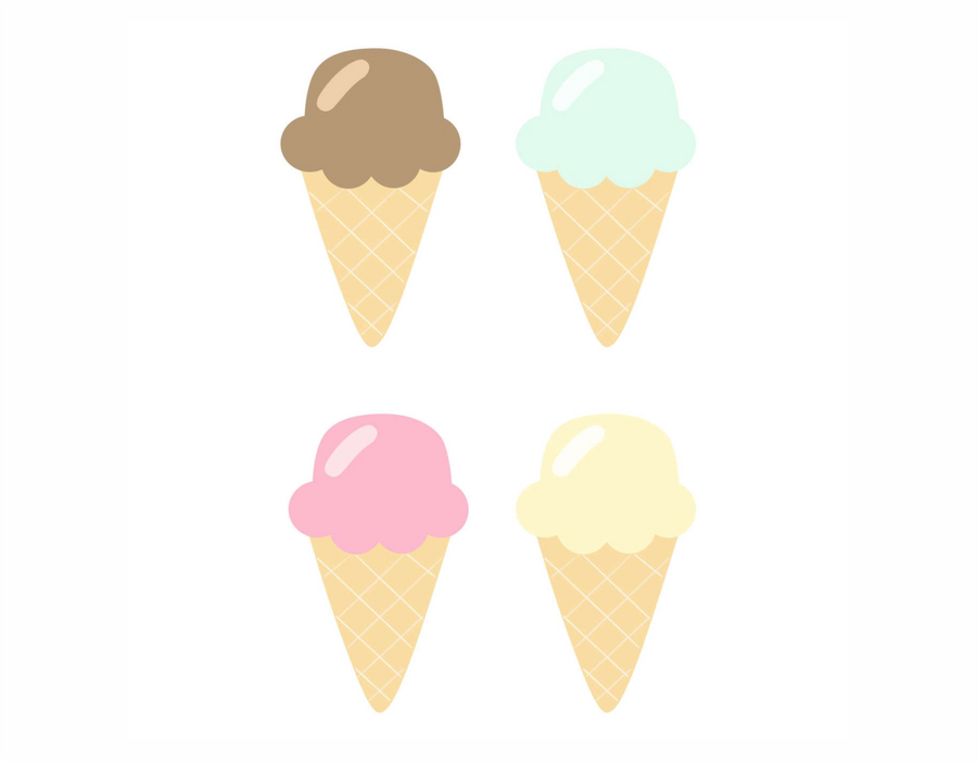 Ice Cream Single Scoop Wall Decals