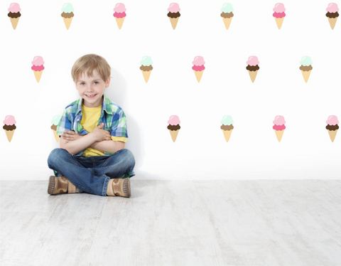 Ice Cream Double Scoop Wall Decals