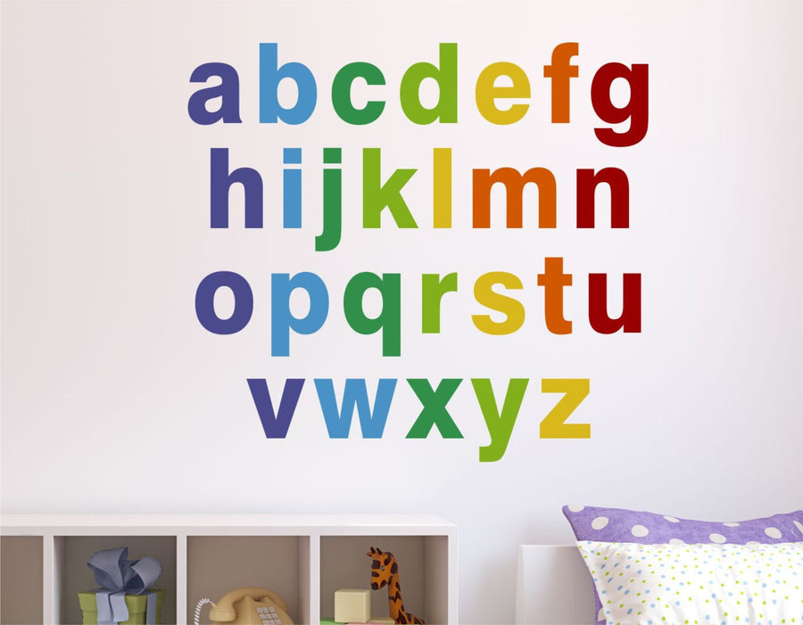 Reusable Alphabet Fabric Wall Decals