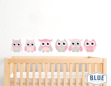 Owl Decals (Pink)