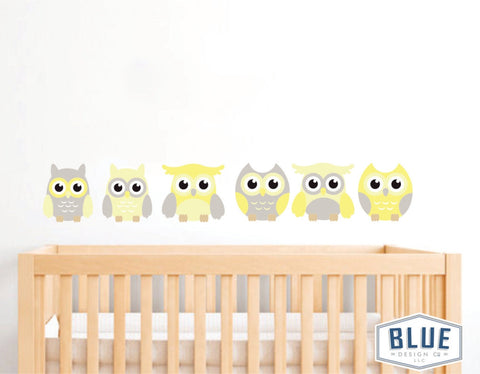 Owl Decals (Yellow)