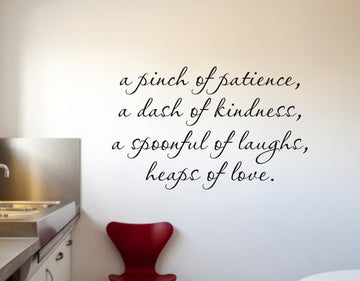 Pinch of Patience Kitchen Wall Decal