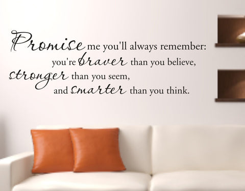 Promise Me Decal