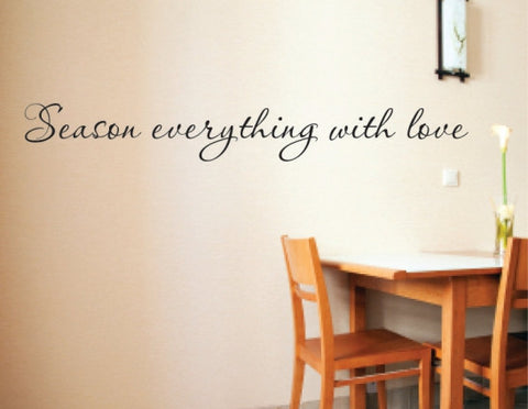 Season everything with love decal
