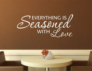 Seasoned with love Decal