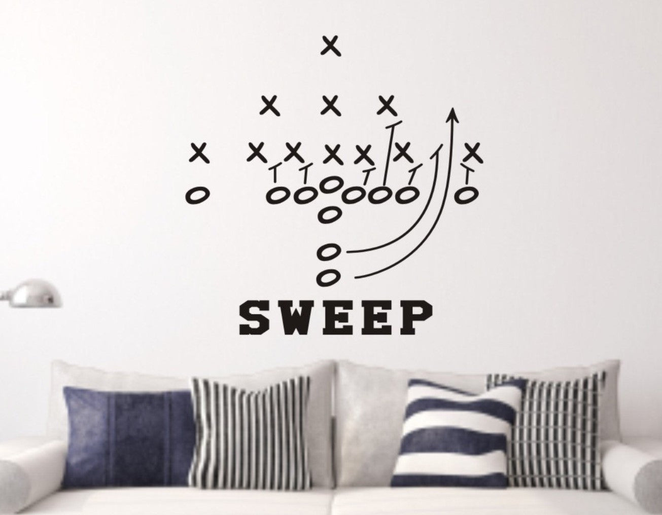 Football Play Wall Decal   Football Wall Decals ...