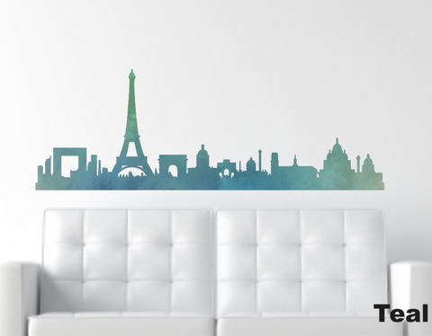 Reusable Paris Wall Decal