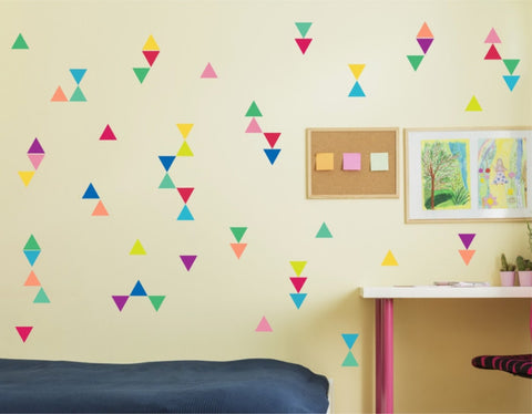 Reusable Triangle Confetti Wall Decals