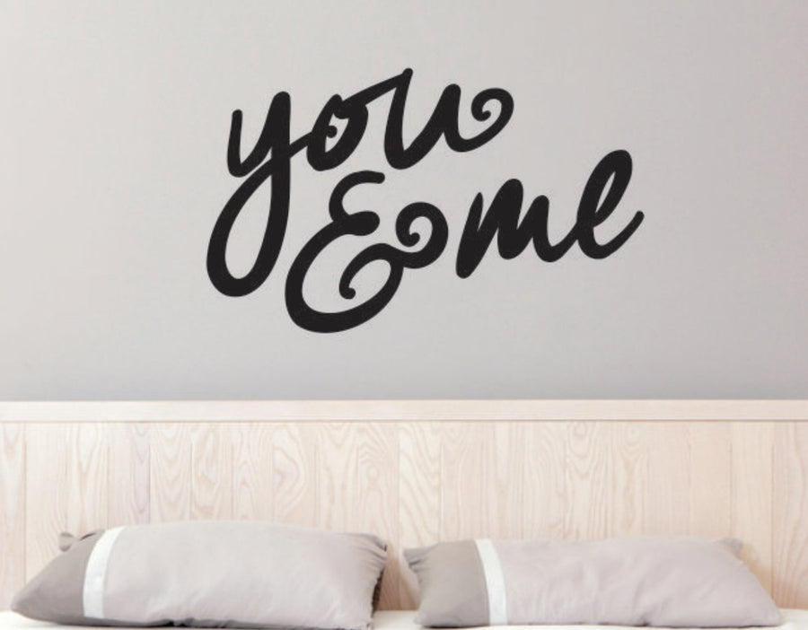 You & Me Decal