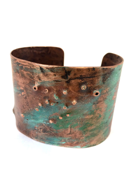 Peacock Cuff - SOLD - Found In a Field