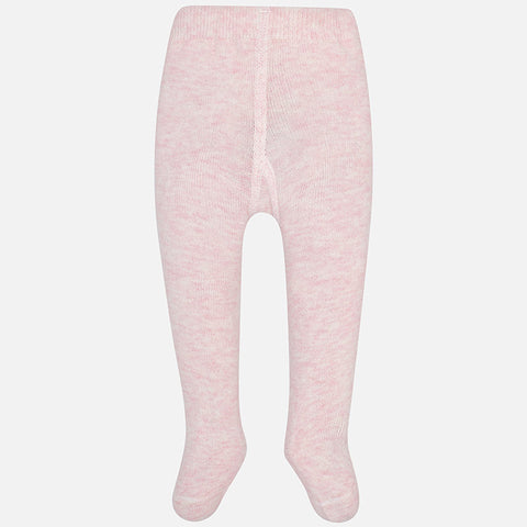 Collants uni pour bébé fille rose pâle - Mayoral - Hibox-Mini