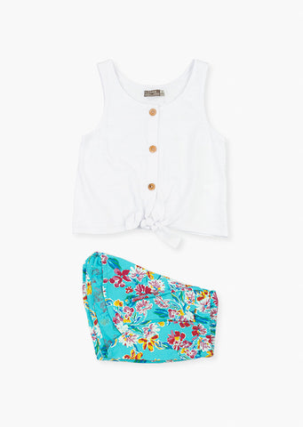 Ensemble camisole et short fille - LOSAN