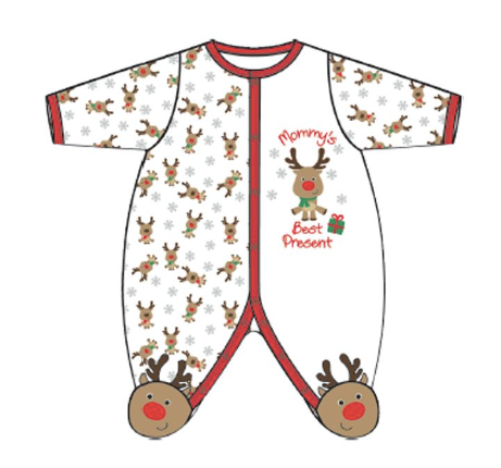 Pyjamas Noël - Mommy's best present - Hibox-Mini