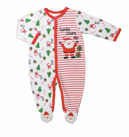 Pyjamas de Noël - Santa loves me - Hibox-Mini