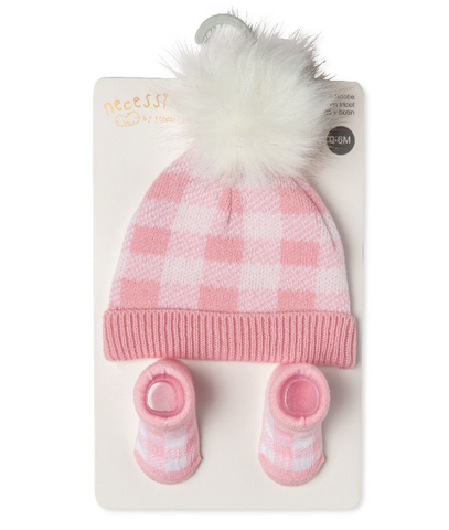 Ensemble tuque et bottines bébé