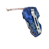 Military Navy Camo on Blue w Belt Clip