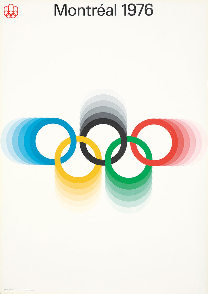 Montreal 1976 Olympics (White + color rings)