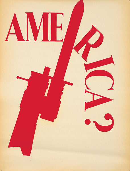Anti-Vietnam: Silk-Screened Poster: America?