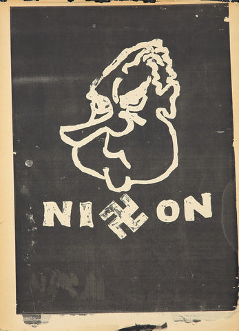 Anti-Vietnam: Silk-Screened Poster: Nixon