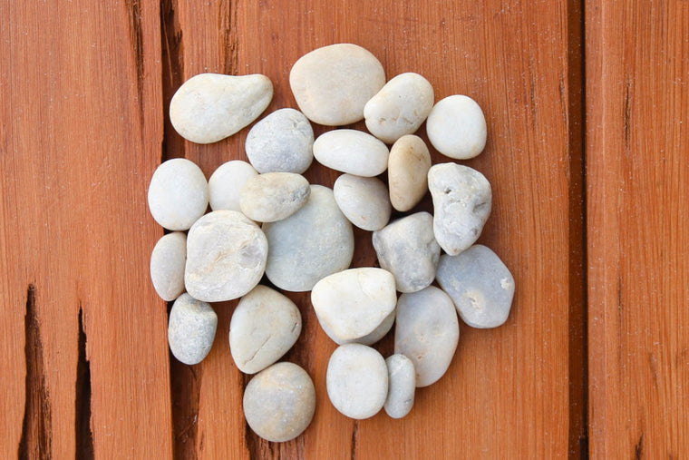 Wholesale - Smooth Beige Mix River Stones - Terrarium Supplies