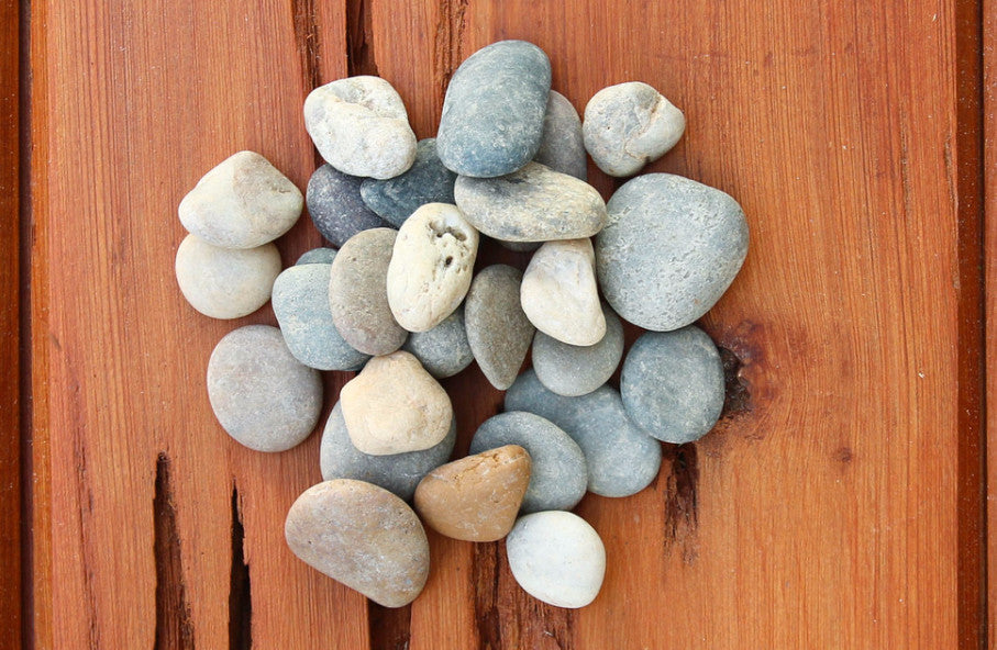 Wholesale - Smooth Gray Mix River Stones - Terrarium Supplies