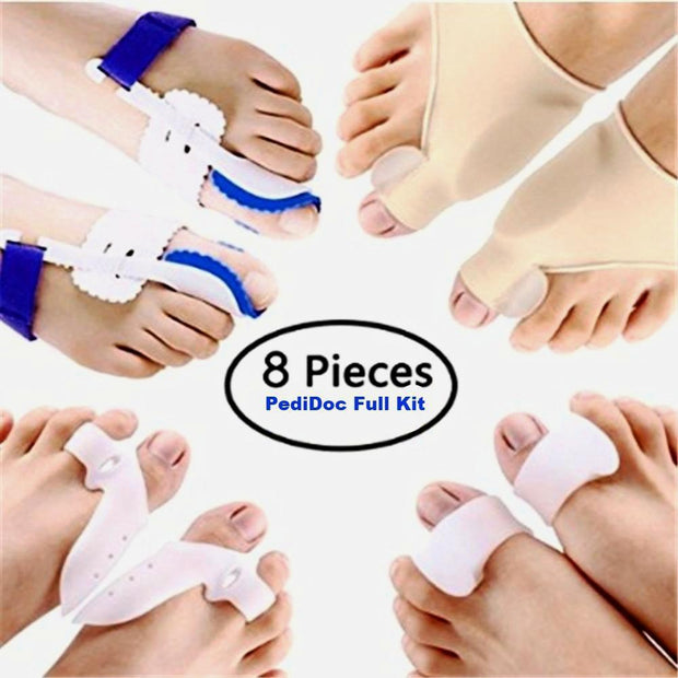 PediCare™ 8 pieces set  -  Bunion Corrector & Bunion Relief Kit