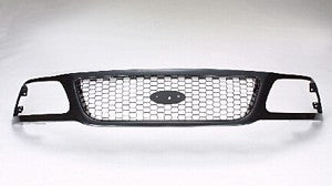 GRILLE-HONEYCOMB- BLACK OUT / SILVER IN