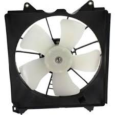 RADIATOR COOLING FAN ASSEMBLY  LH (DRIVER SIDE)- RAD SIDE -4 CYL- DENSO  (2008-2012 HONDA ACCORD- SEDAN (EXCEPT HYBRID))