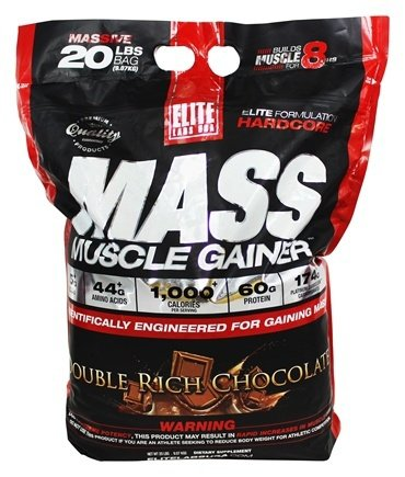 Elite Labs Muscle Mass Gainer 20 lbs FREE Shaker