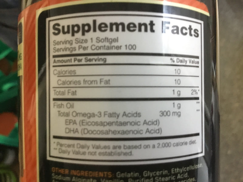 ON Fish Oil (100 softgels)