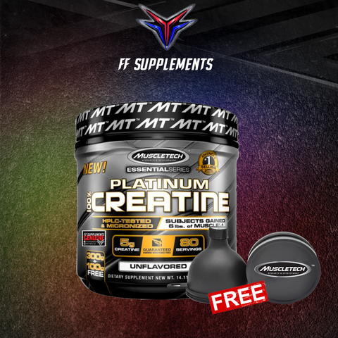 Muscletech Platinum Essential Creatine with MuscleTech Funnel