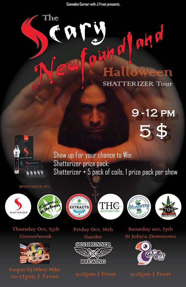 J.Frost and The Scary Newfoundland Halloween Shatterizer Tour