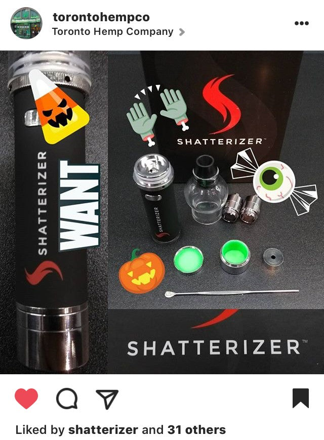 The Toronto Hemp Company: Shatterizer Halloween Giveaway on Instagram
