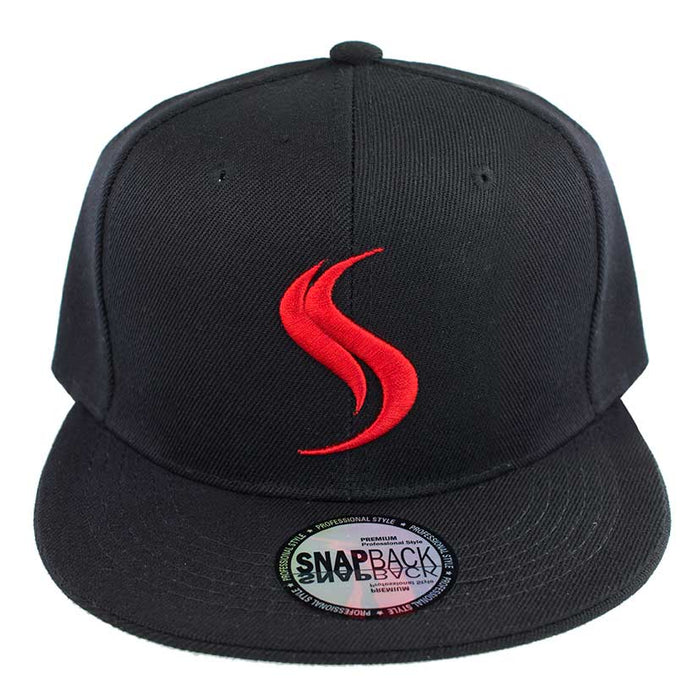 Shatterizer Black Hat with Black Accents, Solid Black Bill