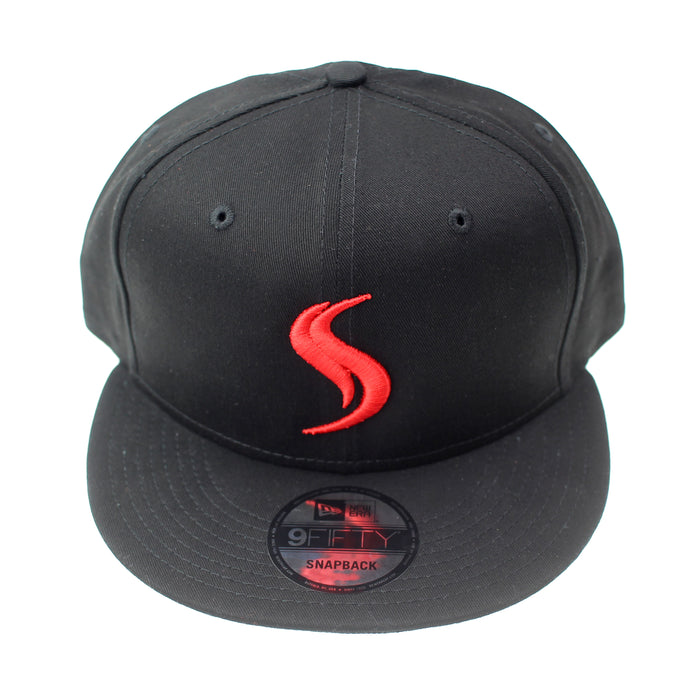 Shatterizer New Era Flat Bill Snapback Cap Solid Black