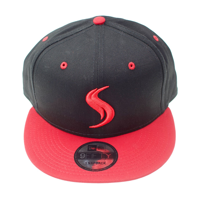 Shatterizer New Era Flat Bill Snapback Cap Red and Black