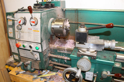 My grizzly metal lathe