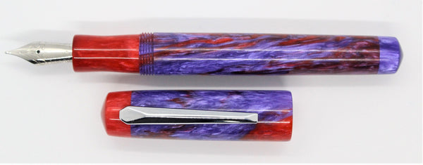 Red and Purple Alumilite Custom Fountain Pen