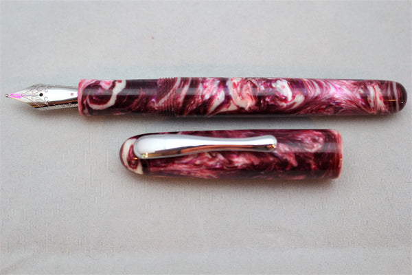 Cherry Crush Alumilite Custom Fountain Pen